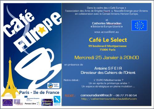 Europe, Méditerranée, Moyen Orient,Paris Antoine SFEIR, Catherine Mouradian, Europe Solidarité Liberté