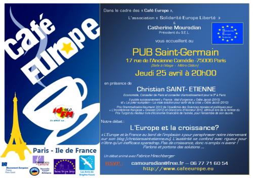 Café Europe Paris IDF, Europe CroissanceCatherine Mouradian, Christian Saint-Etienne
