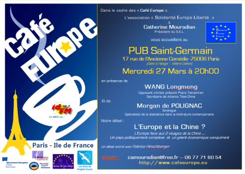 Chine, Europe, think tank, Solidarité Europe Liberté, SEL,Catherine Mouradian