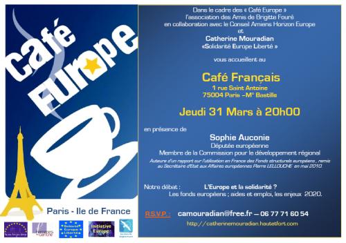 Café Europe, Sophie Auconie, Fonds structurels